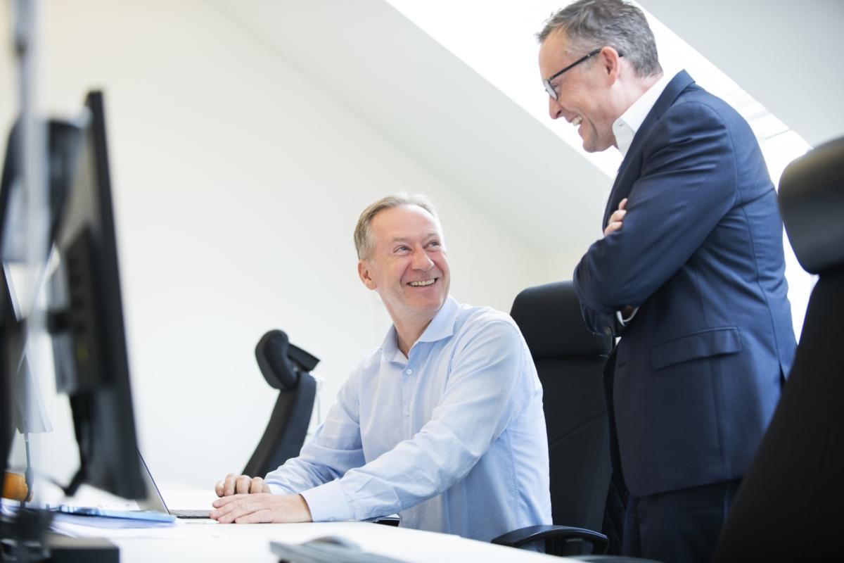 Henrik Nordin och Tony Andersson pratar