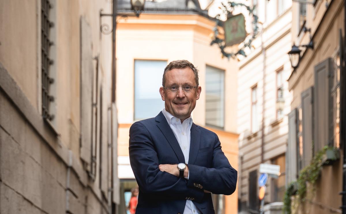 Infreas VD och Koncernchef Tony Andersson i Gamla Stan.
