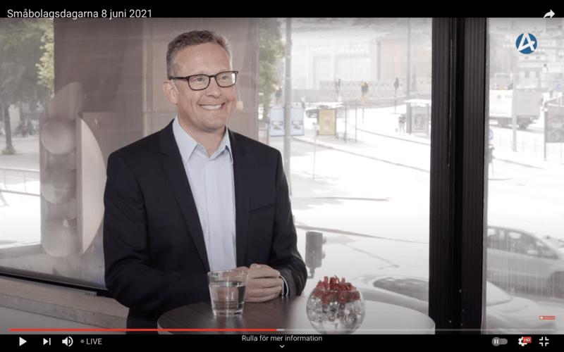 Infreas VD och koncernchef på Småbolagsdagarna 2021